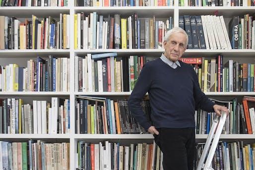 Kenneth Frampton. Photo: Alex Fradkin, via Sir John Soane's Museum/Facebook.