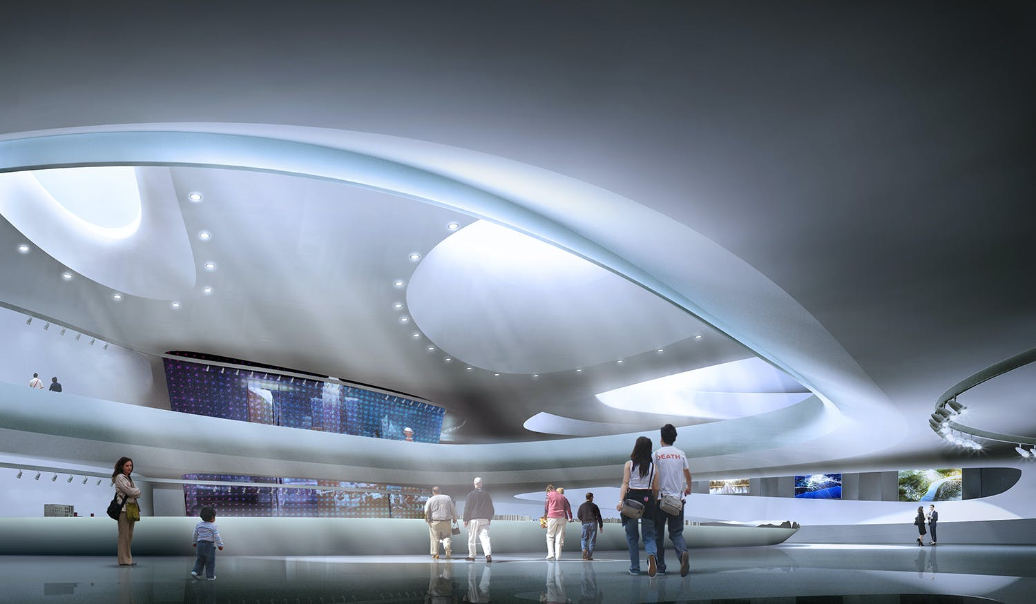 Yichang New District Master Plan And Public Service Center Exhibition Planning Center Museum