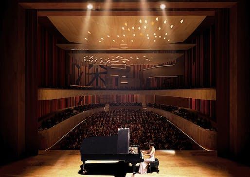 Shenzhen Conservatory of Music. Render: Fancy.