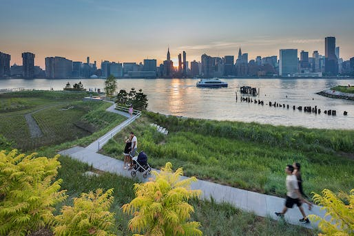 Oct 31: Hunter's Point South Waterfront Park, Co-designed: SWA/Balsley and WEISS/MANFREDI, Prime Consultant and Infrastructure Designer: ARUP, Photo: Albert Vecerka/Esto.