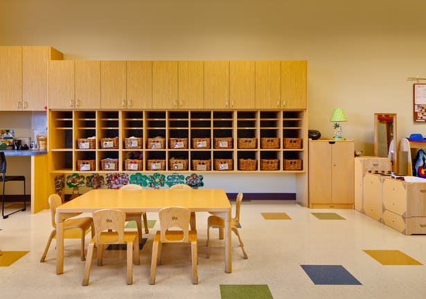 modern childcare facility for 215 students + staff. early childhood development design program. vibrant design | sustainable materials | healthy interiors. 34,131 sq ft.modern childcare facility for 215 students + staff. early childhood development design program. vibrant design | sustainable materials | healthy interiors. 34,131 sq ft.