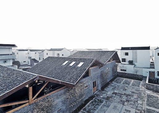 Dongziguan Villagers' Activity Center in Hangzhou, China by gad · line+ studio. Photo: Yi Fan.