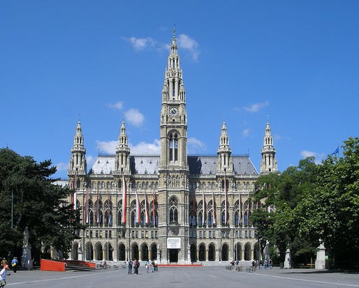 A number of forward-looking political decision must have been passed in Vienna's mighty city hall to place the Austrian capital consistently at top places of various livability indexes. (Image via Wikipedia)