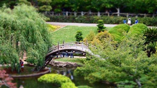 A view of the moon bridge at the Huntington Library's historic Japanese Garden in San Marino, CA. Photo: Ian D. Keating/Flickr.