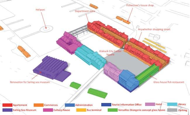 Program axonometric (Image: Kubota & Bachmann Architects)