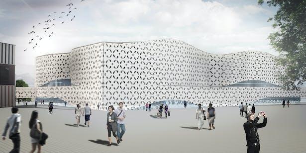 Exhibition Hall Center by Nastaran Shishegar