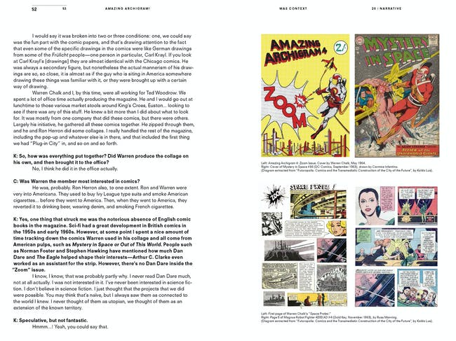 MAS Context Narrative. Amazing Archigram! (spread) © MAS Context