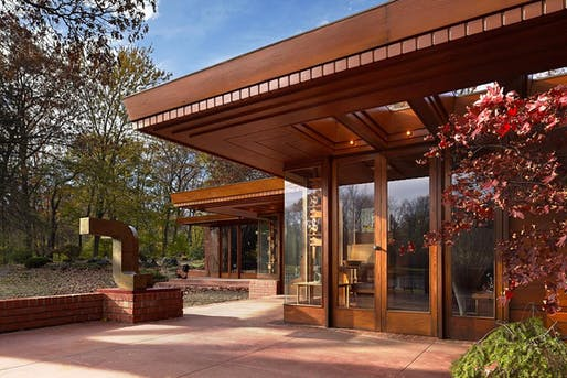Frank Lloyd Wright designed the house for the Smith family in the 1940s. Image via Cranbrook Center for Collection and Research.