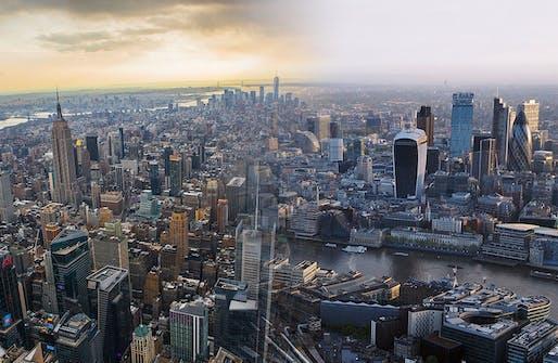 Nice job, New York & London. You would make lovely children. (NYC Photo: Anthony Quintano; London Photo: Daniel Chapma; Images via Wikipedia)