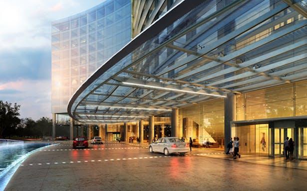 Hotel Arrival *rendering by Crystal CG*