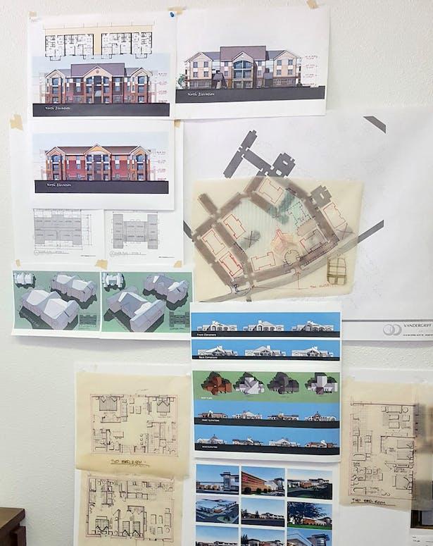 Elevation Study for Park Legado 3 stories apartments
