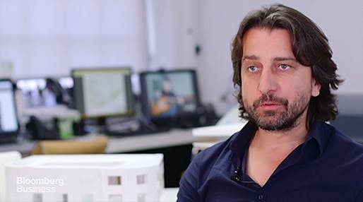 Still from Bloomberg's video profile on Kosovo-born London-based architect, Perparim Rama. (Image via bloomberg.com)