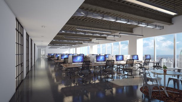 Open Work Area Rendering