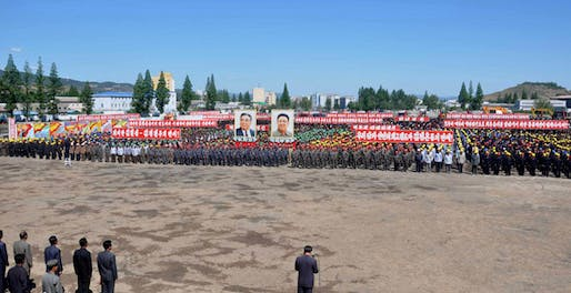Groundbreaking ceremony, DPRK style: the Wonsan redevelopment project was very officially kicked off on May 20, 2015.