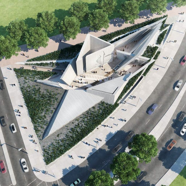 Winning design for Canadian National Holocaust Monument in Ottawa by Team Lord of Toronto.