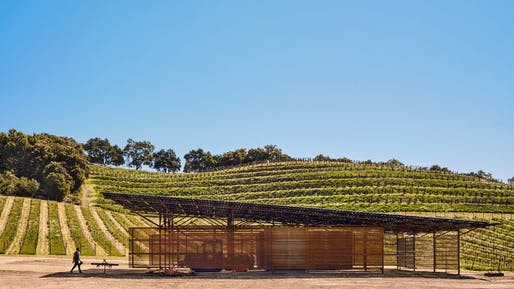 ​Saxum Vineyard Equipment Barn, Paso Robles, California | Clayton & Little Architects​. Photo: Casey Dunn.