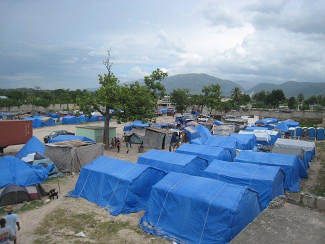 Paper Emergency Shelter for Haiti, 2010, Port-au-Prince, Haiti. Photo by Shigeru Ban Architects