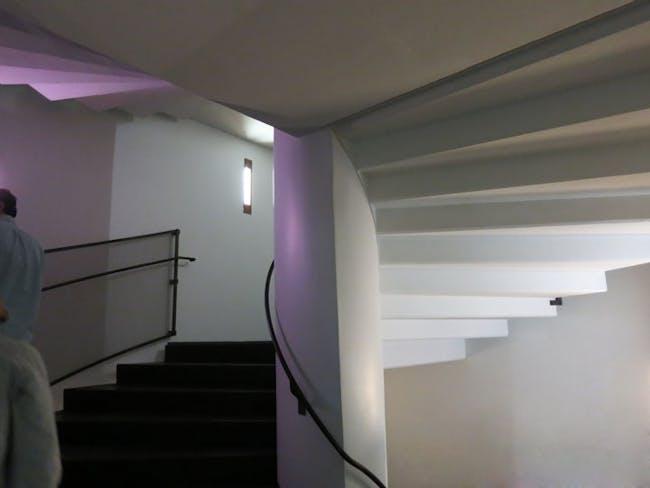 Steven Holl stairs in Kiasma Museum