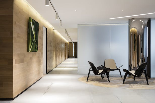VMS Investment Group Headquarters, Hong Kong, by Aedas Interiors - Reception