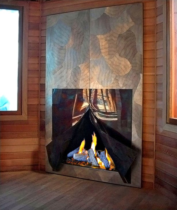 Bloch Design wall fireplace
