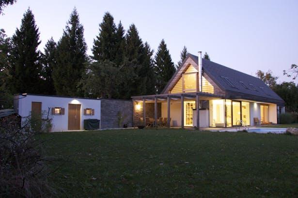 House A, exterior