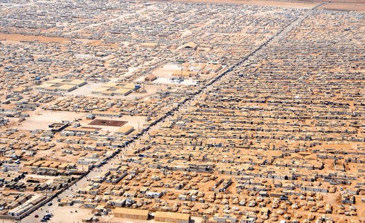 The Zaatari refugee camp in Jordan is the country's fourth largest city and houses refugees of the Syrian conflict. Credit: Wikipedia