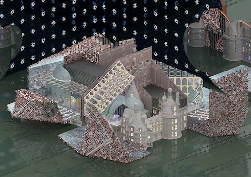 'Une utopie de la fin du monde', project by Rebecca Xan Fitzgerald in Elena Manferdini's Vertical Studio