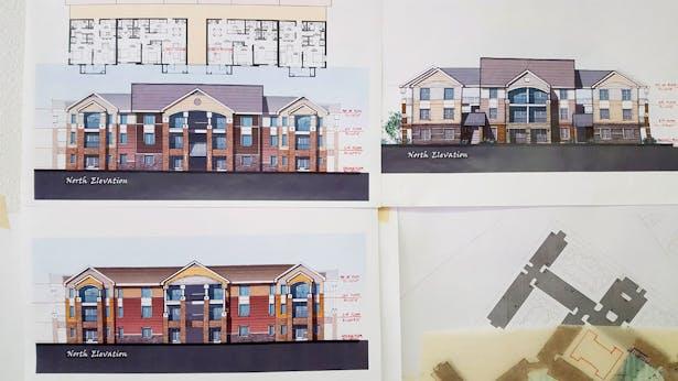 Elevation Study for a 3 stories Apartment. Park Legado, Odessa, TX.