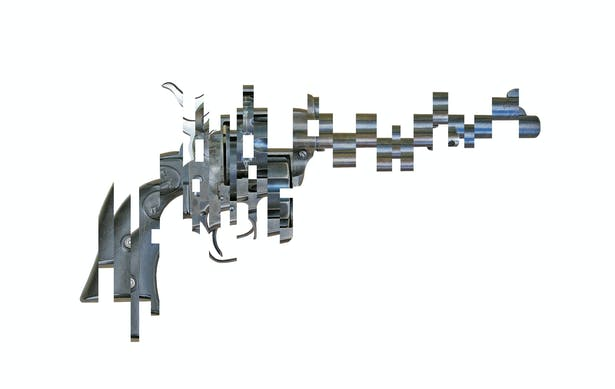 Deconstructed 38/40 pistol