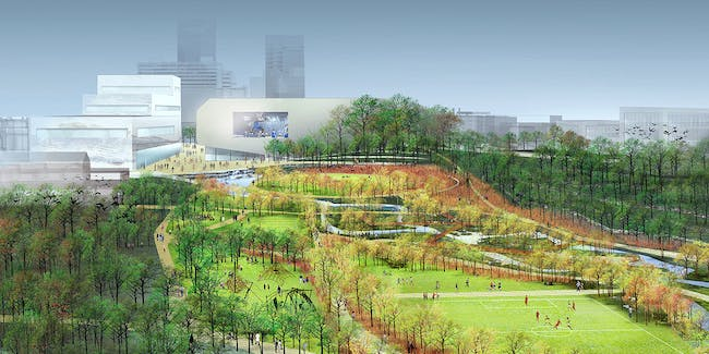 Detail from the winning proposal 'Reviving Town Branch' by SCAPE / Landscape Architecture team