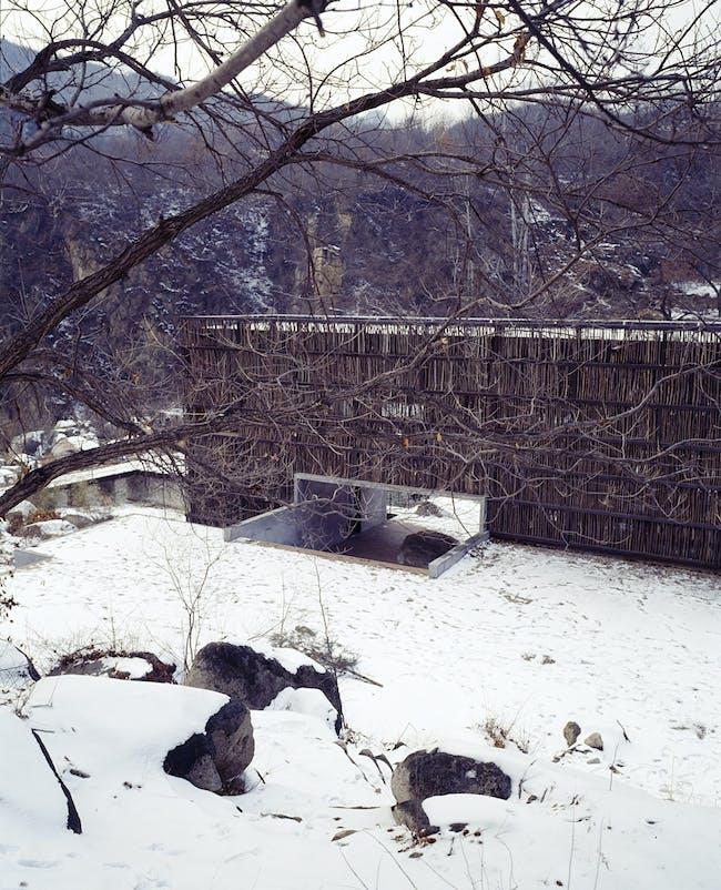 the Liyuan Library in Jiaojiehe Village near Beijing, China (exterior)