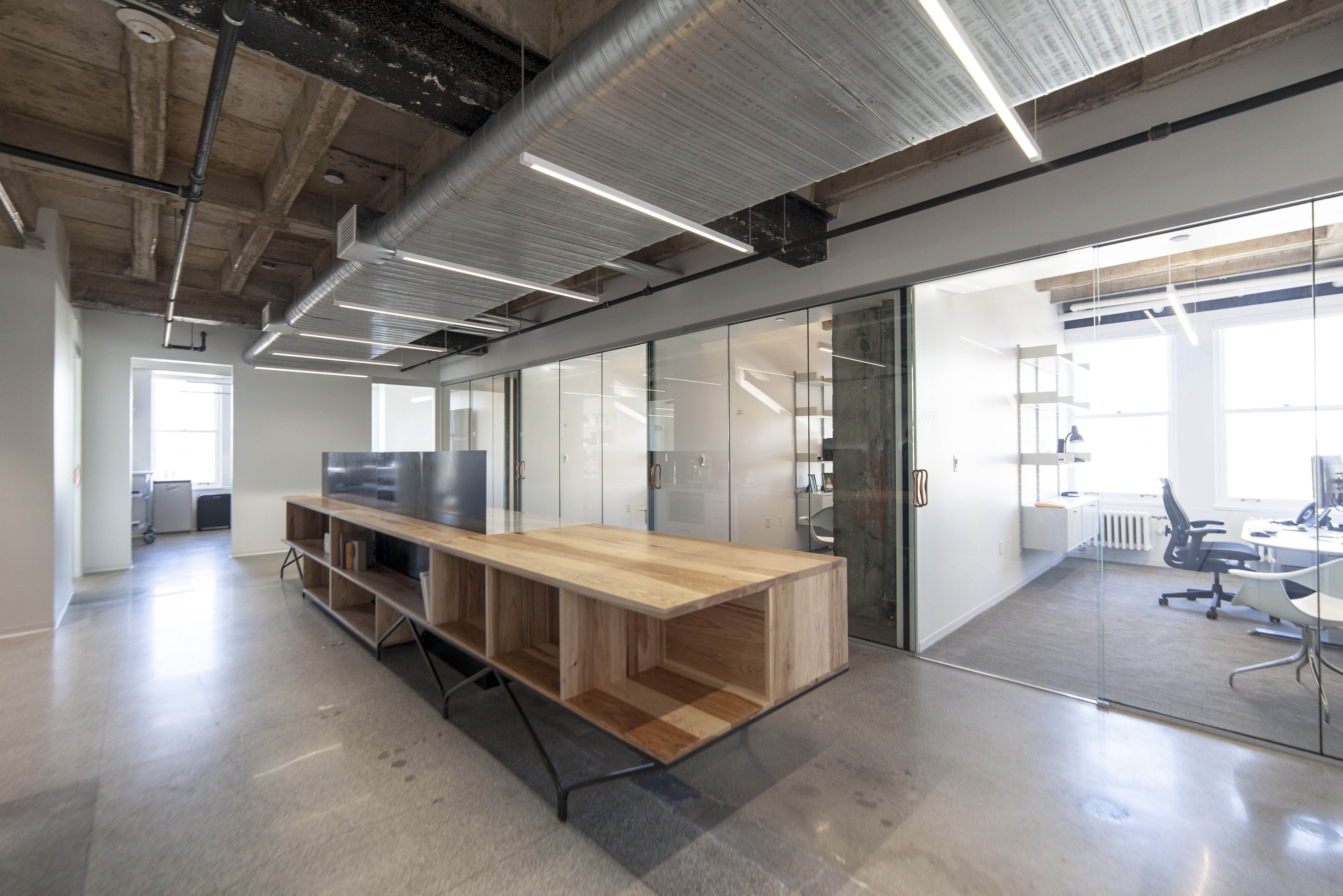 Office Island Made Of Steel And Hickory Fabricated By Synecdoche