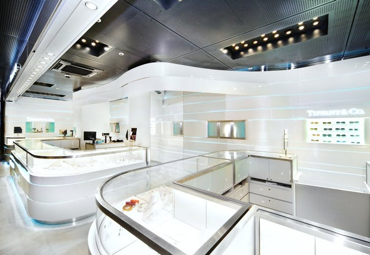 Tiffany & Co., Milan. Image courtesy of Christian Lahoude Studio.