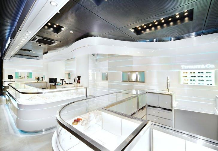 Tiffany & Co., Milan. Image courtesy of Christian Lahoude Studio.