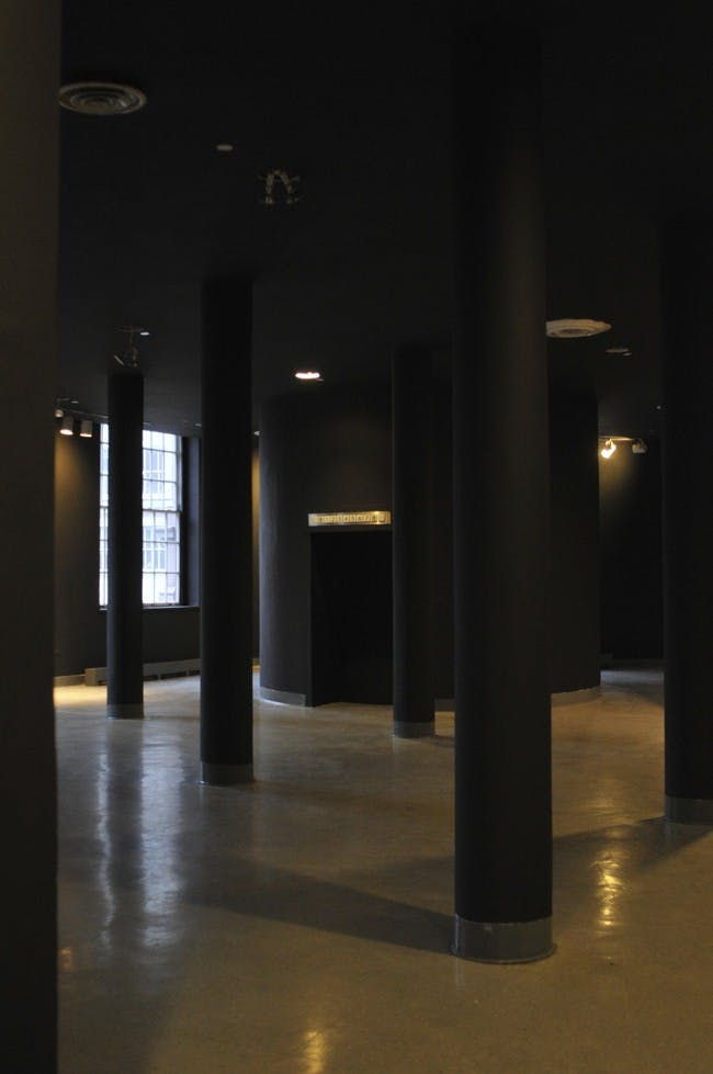 third floor lobby of Cooper Union's Foundation Building - the heart of the School of Architecture (after)