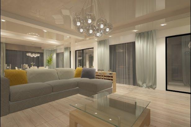 Design interior living casa moderna - Amenajari interioare case la cheie