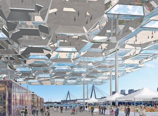 Masterplanning - Future Projects Winner: Allen Jack+Cottier Architects and NH Architecture, Sydney Fish Markets, Sydney, Australia.