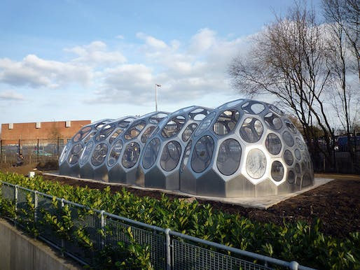 Front view of SPACEPLATES Greenhouse Bristol by N55 in collaboration with Anne Romme (Photo: Anne Romme and N55)