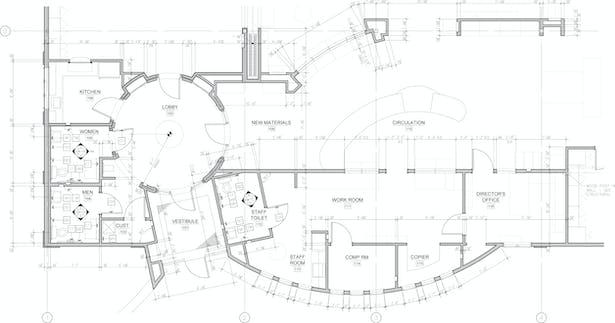 Enlarged circulation area plan