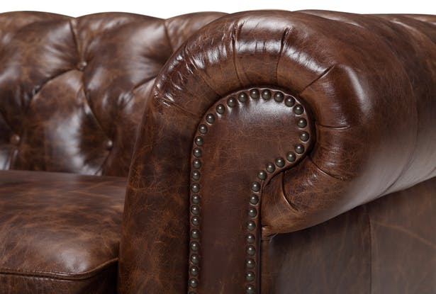 Rose Moore Kensington Chesterfield Leather Sofa