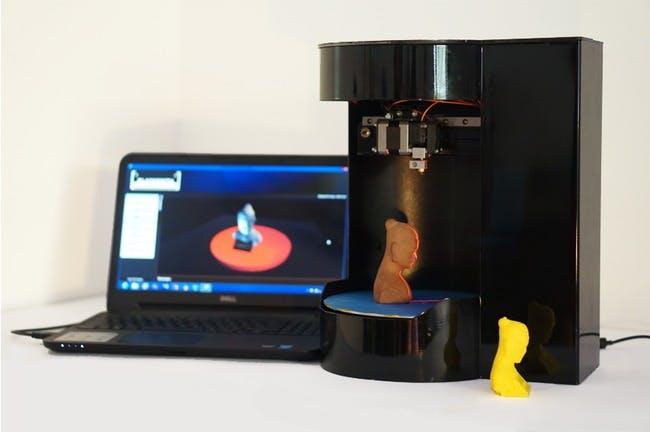The 3D printer/scanner hybrid Blacksmith Genesis.
