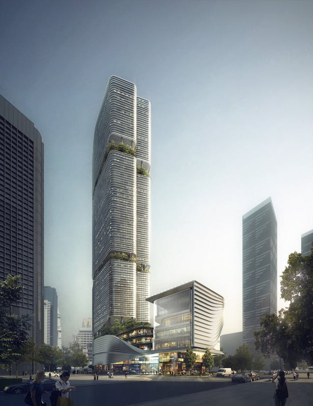 Gmond International Building, Shenzhen, China by Aedas