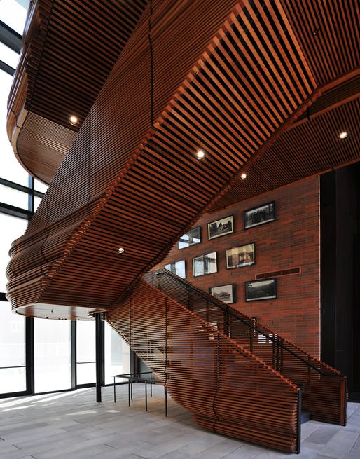 MERIT: The Owsley Brown II History Center, Louisville, Kentucky, de Leon & Primmer Architecture Workshop. Courtesy of the 2017 Wood Design & Building Awards.