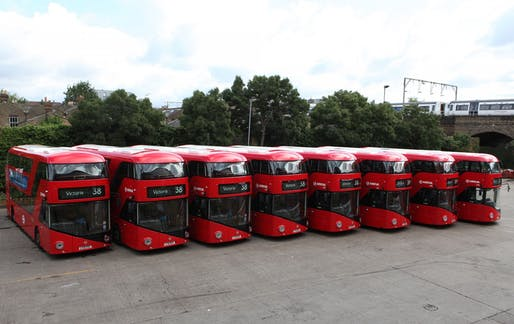 "Heatherwick's cancelled ""New Bus for London."" Image: Heatherwick Studio"