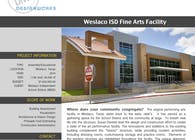 Weslaco ISD, Fine Arts Facility
