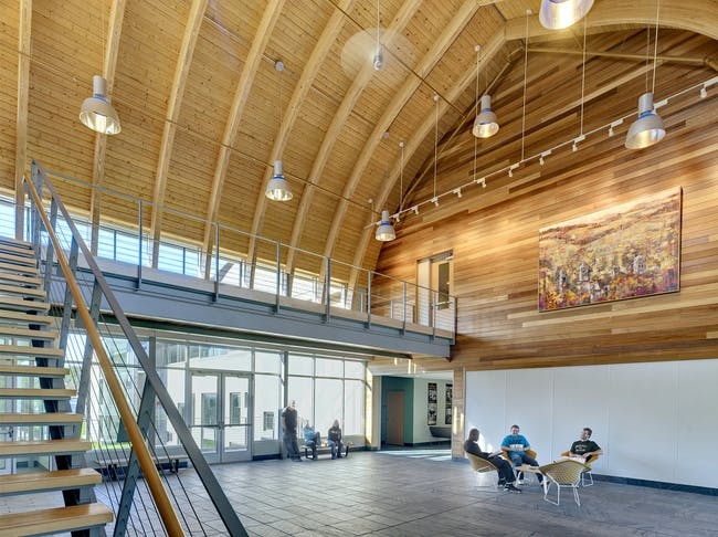 SUNY: Morrisville State College: Center for Design and Technology in Morrisville, NY by Perkins Eastman; Photo: David Revette