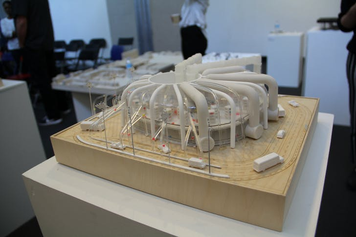 Third-year student, Bezaleel B Balan's model for Greg Lynn's Typologies of Fulfillment