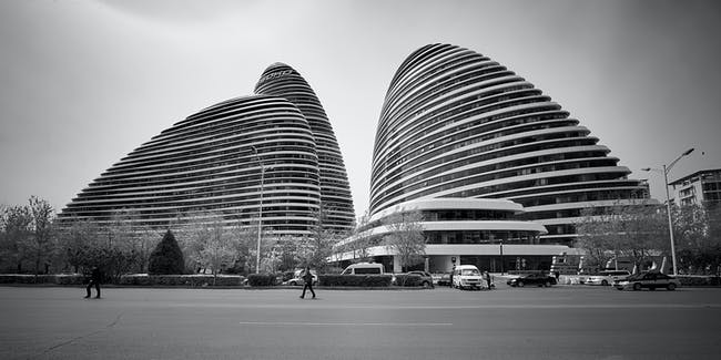 Wangjing SOHO in Beijing, China by Zaha Hadid Architects, the first place winner of the Emporis Skyscraper Award. Photo © Jan Martin.