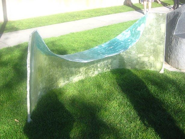 glace bench back
