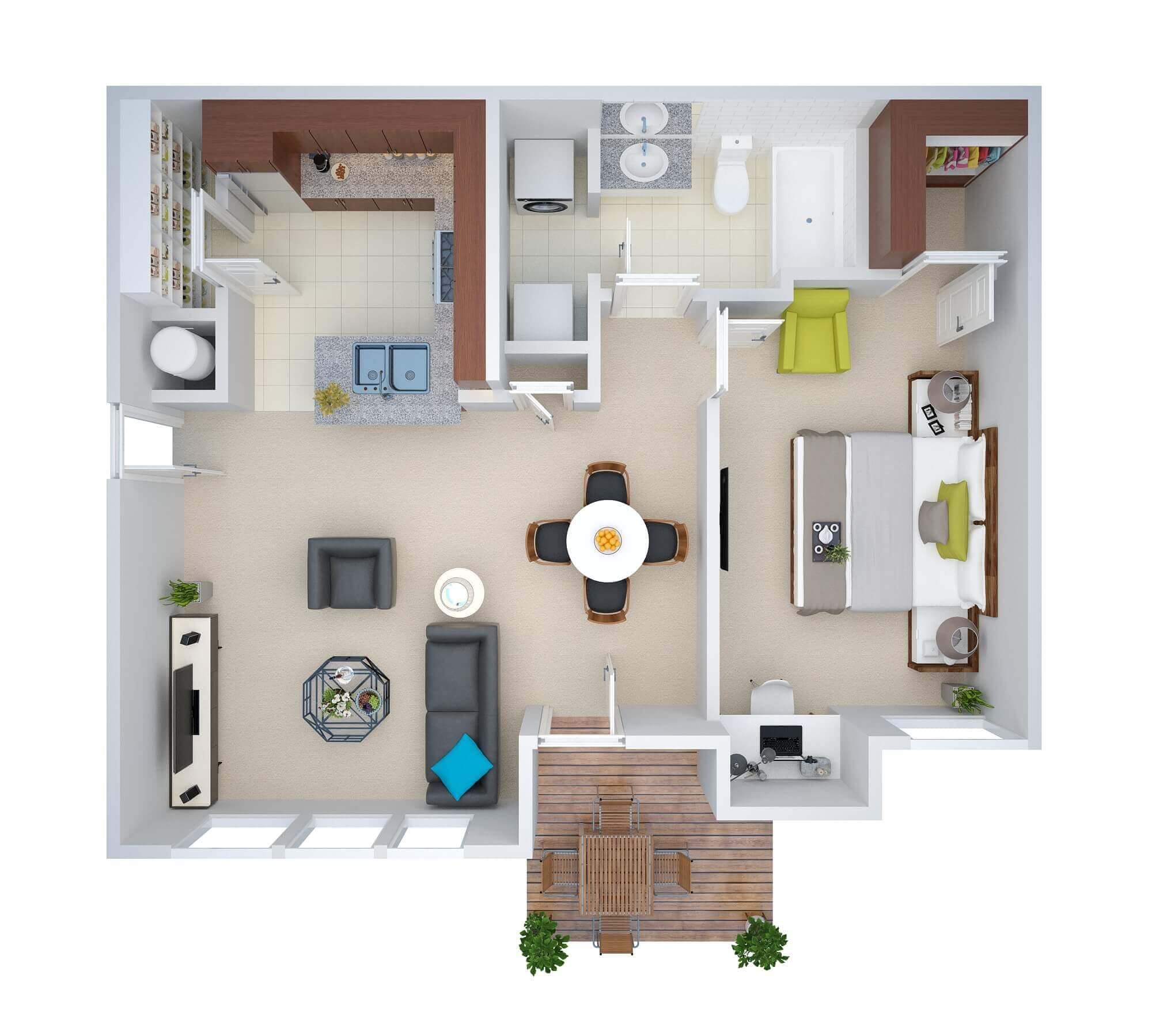 Floor Plan for Real Estate Introduce 3D Floor Plan Rendering